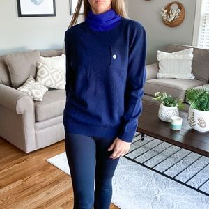 BAND OF OUTSIDERS • blue turtle neck sweater